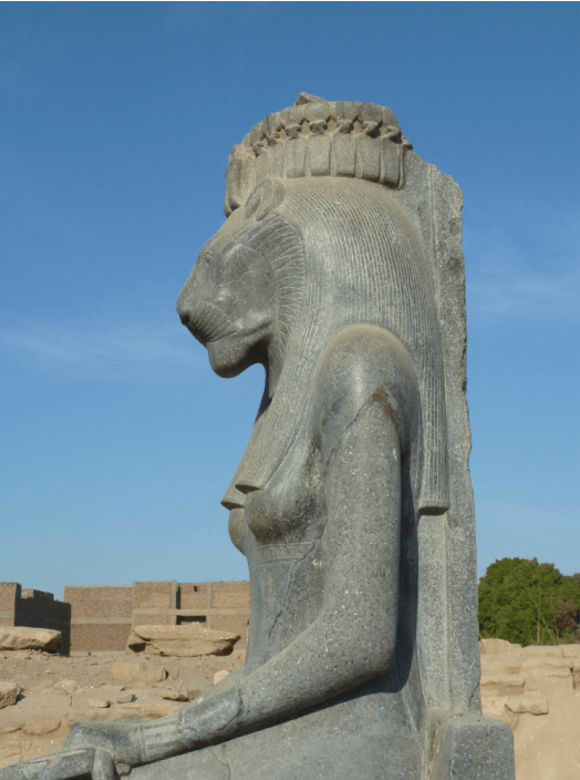 The Lady of the Flame, the goddess Sekhmet.