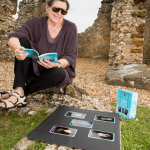 Reading the crystal oracle at Knowlton Henge, my local sacred site.