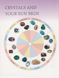 birthstones laid out on the zodiac wheel. Photo copyright Jeni Campbell/angeladditions