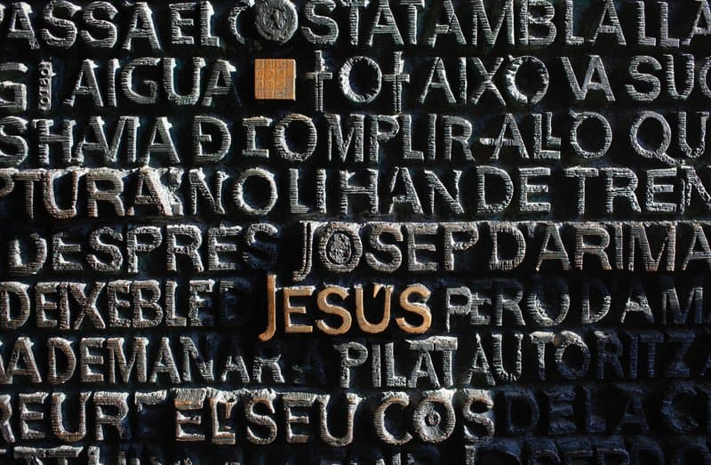 minimalist photography of Jesus embossed decor